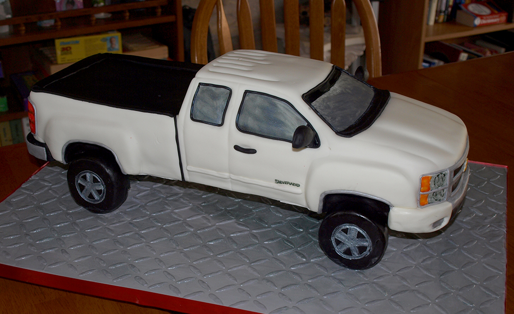 3D Chevy Silverado Cake