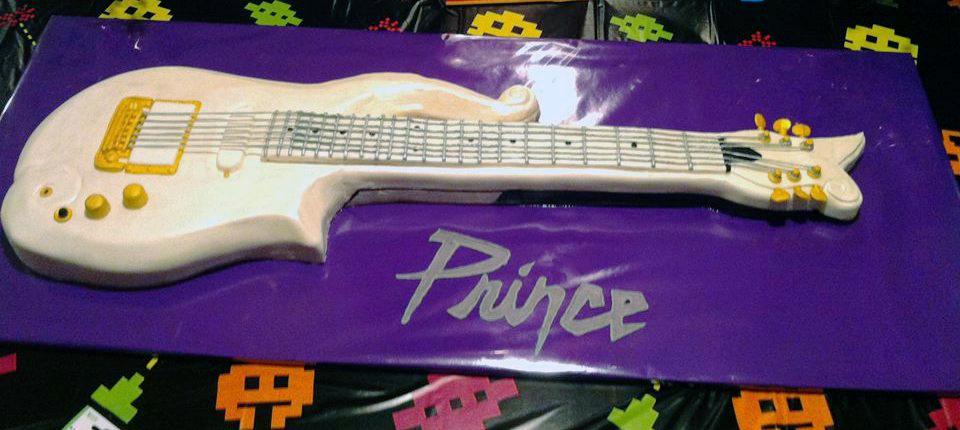3-D Prince Cloud Guitar Cake