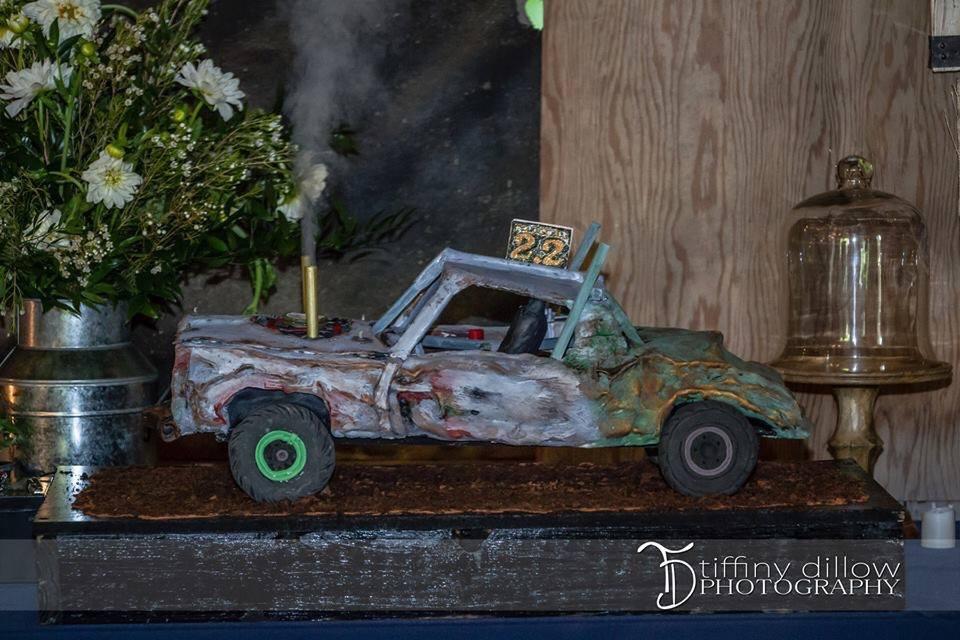 Crash-Up Derby Car 3-D Cake