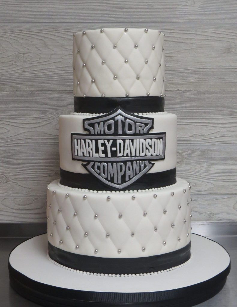 Harley Davidson Elegant Wedding Cake