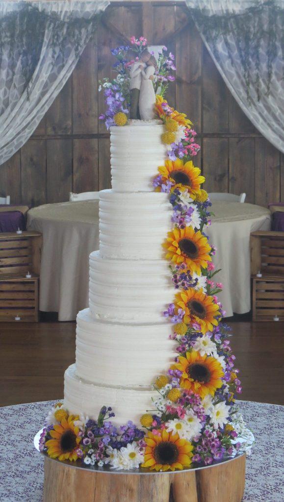 Summer Sunflower Wedding Cake