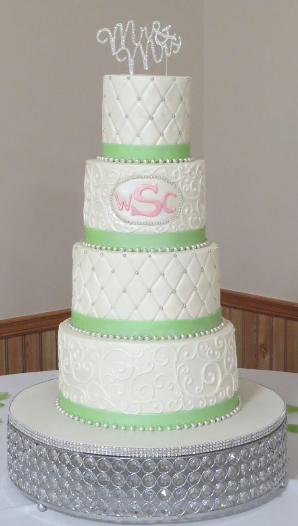 Green Coral Wedding Cake