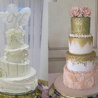 Wedding Cakes, Then and Now