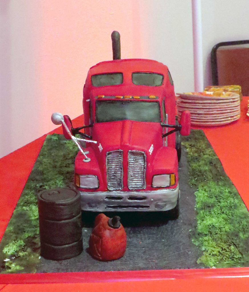 3-D Semi Truck Grooms Cake