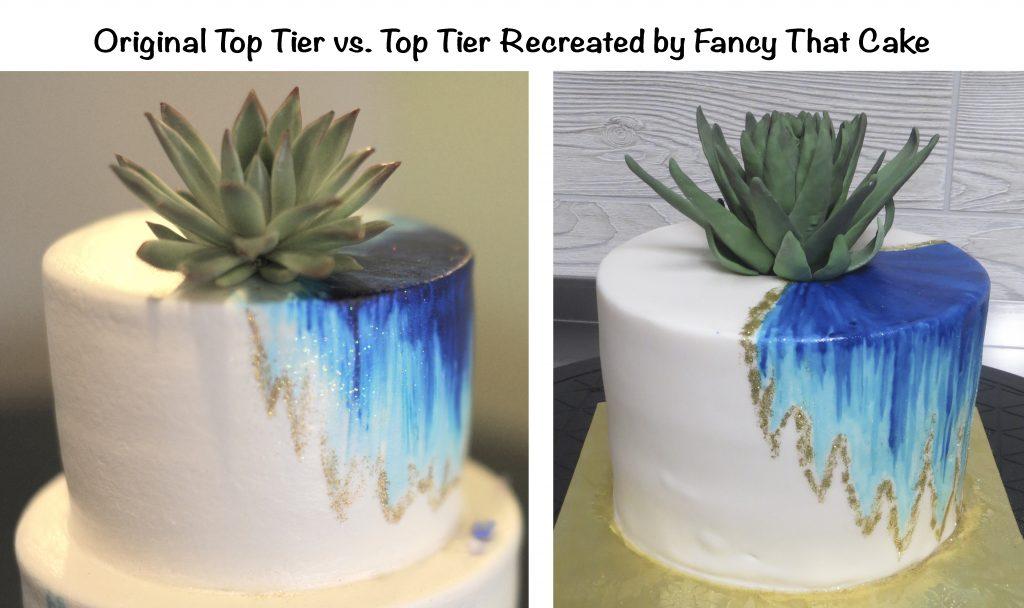 Sketch vs. Cake Top Tier Recreated