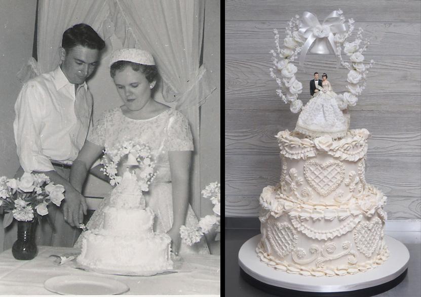 Sketch vs. Cake Vintage Cake & New Wedding Cake