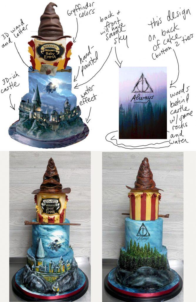 Harry Potter Sketch vs Cake