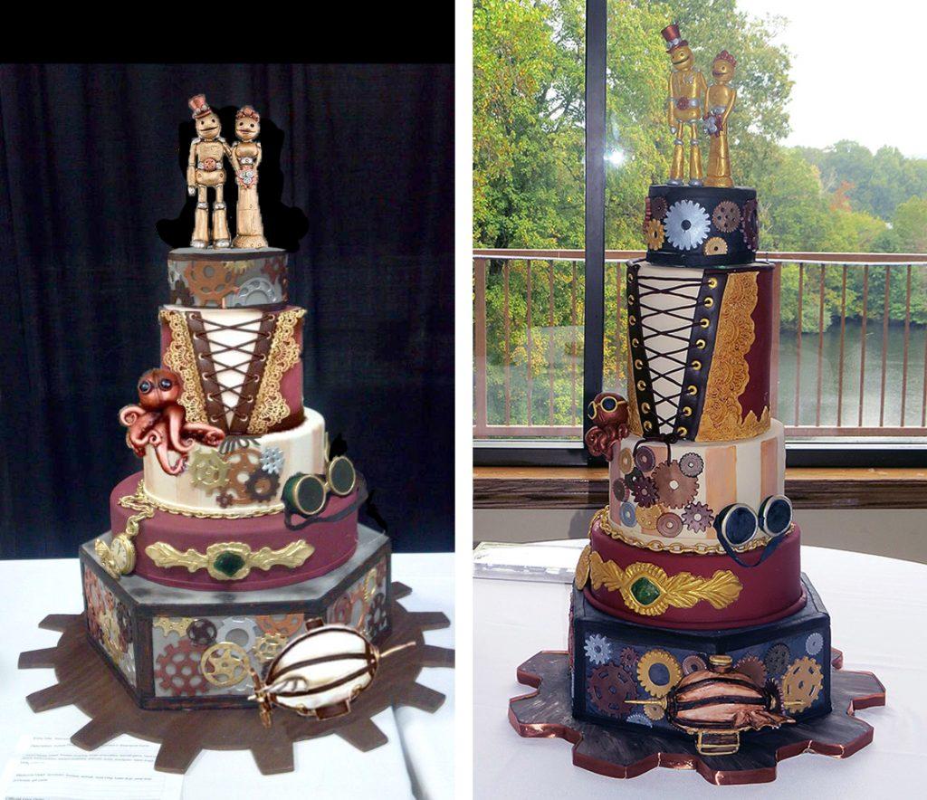Sketch-vs-Cake Steampunk Cake