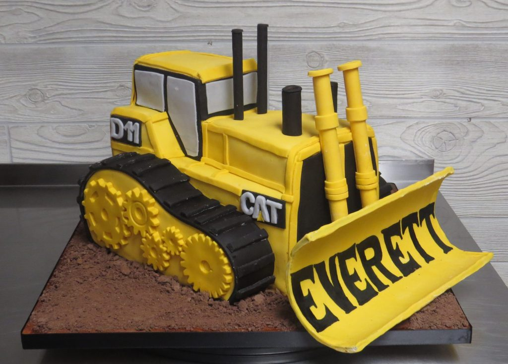 3-D Bulldozer Cake