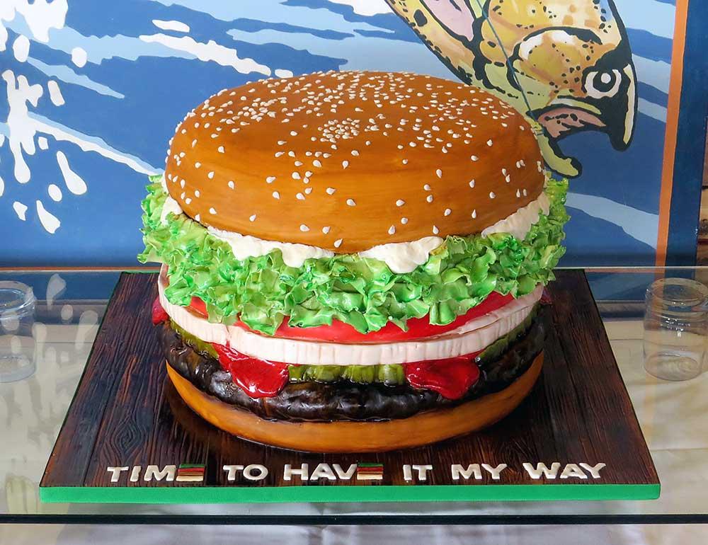 3-D Whopper Hamburger Cake