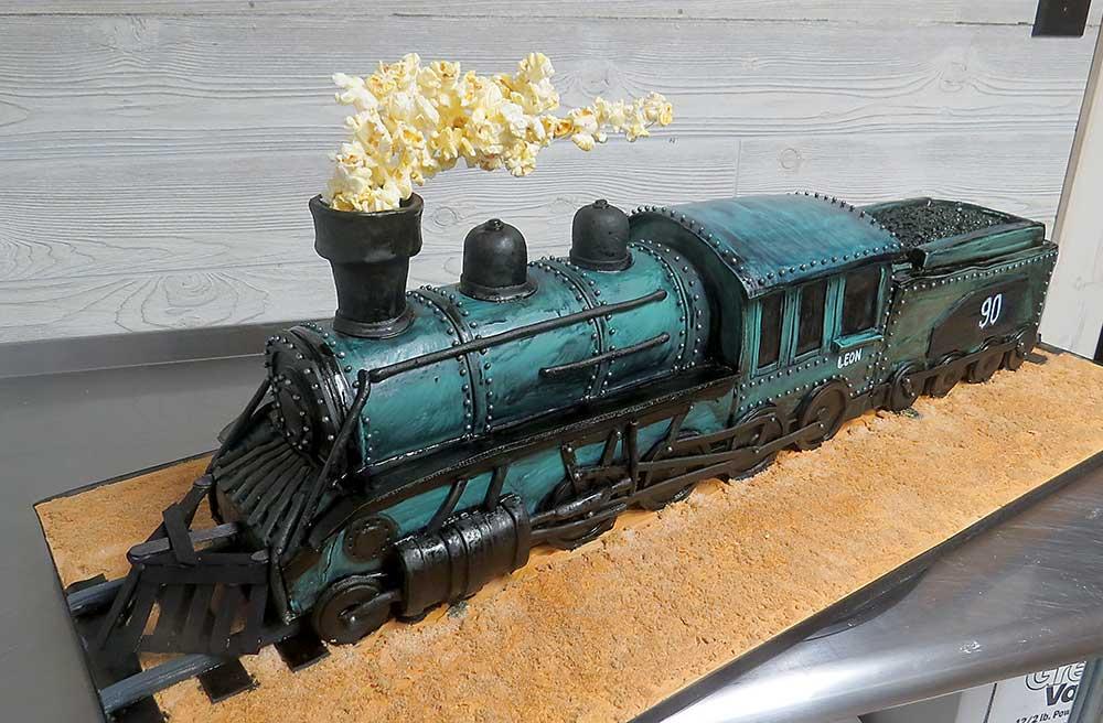 3D Steam Train Cake