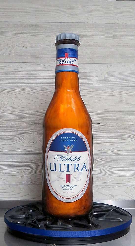 Michelob Ultra Beer Bottle Cake