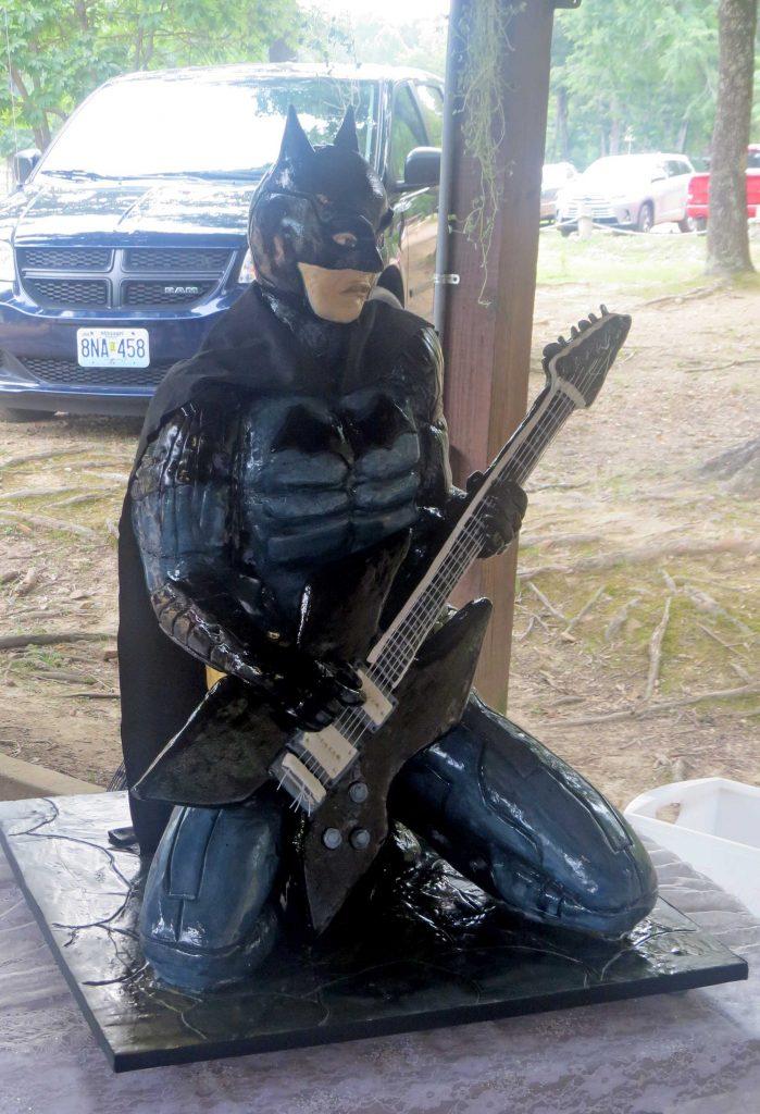3D Cake Batman playing the guitar