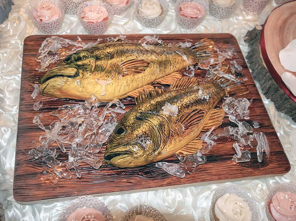 Another Bass Fish Grooms Cake
