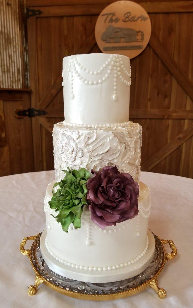 Rustic Lace Wedding Cake