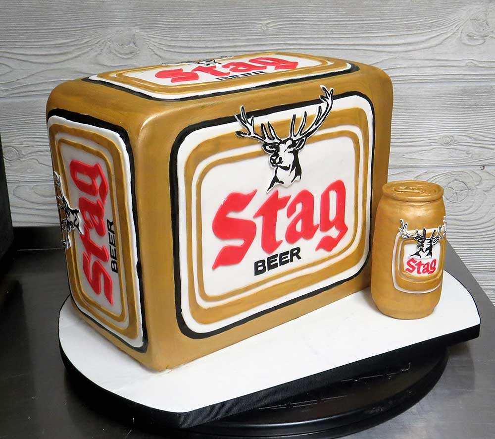 Stag Beer Grooms Cake