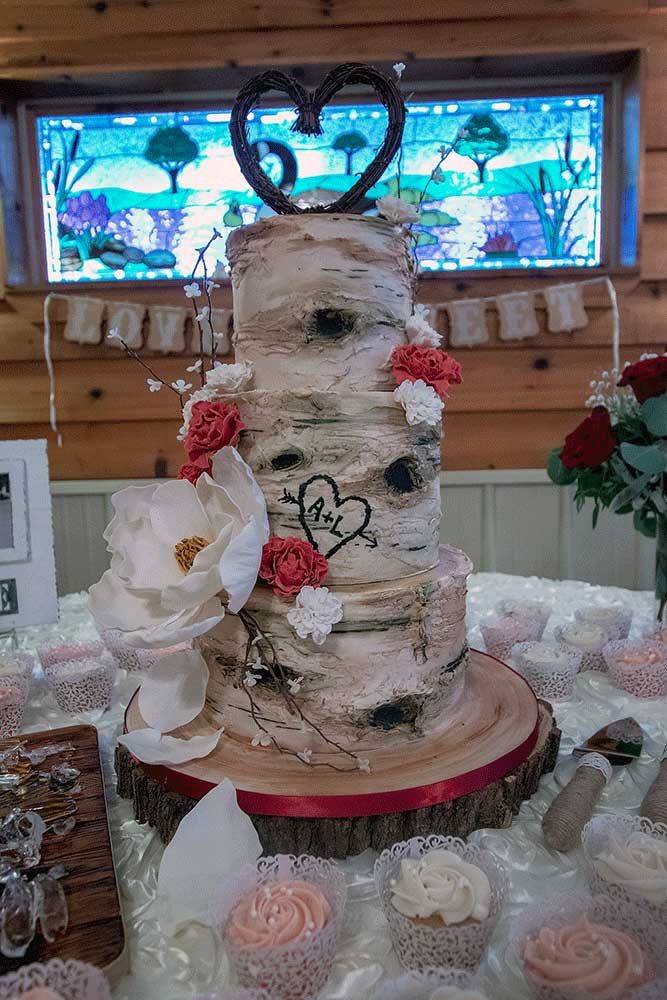 Wedding Cake Magnolia Birch Tree Bark