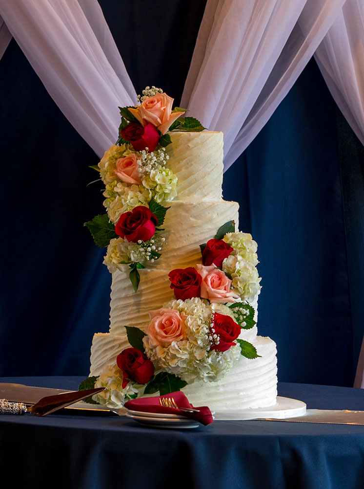 Buttercream Cake Fresh Flowers