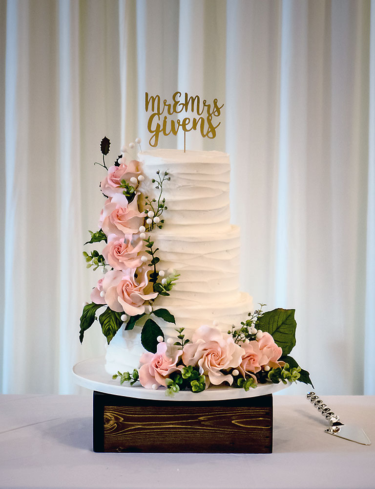 Wedding Cake Blush Gold Buttercream Wedding Cake