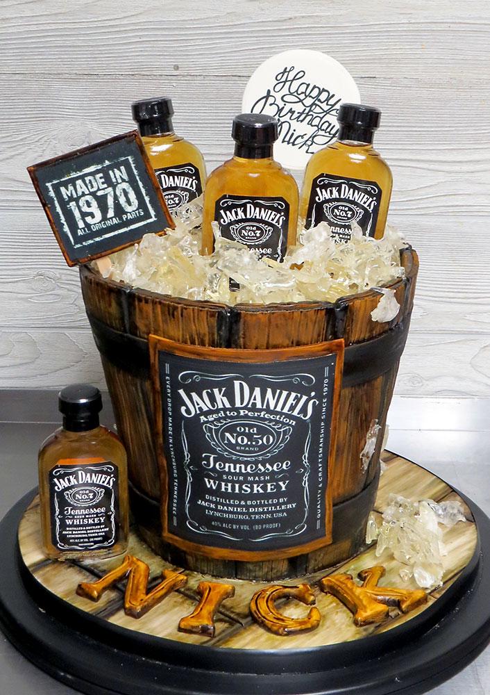 Jack Daniels 50th Birthday Cake