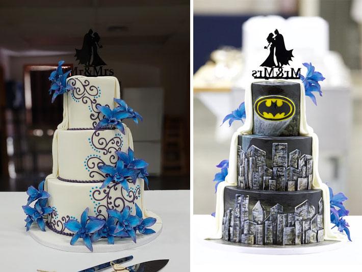 Batman Wedding Cake Duo