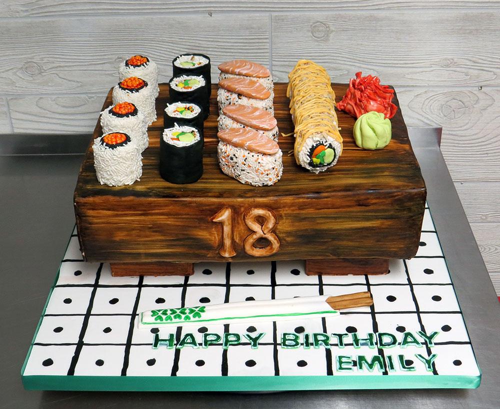 Sculpted Sushi Cake